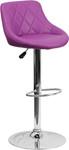 Flash Furniture Purple Vinyl Bucket Seat Bistro Stool
