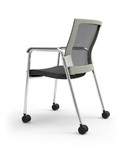 iDesk 403W Oroblanco Mesh Side Chair with Casters