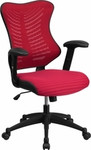 Flash Furniture Red Mesh Ergonomic Computer Chair with Arms