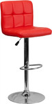 Flash Furniture Red Vinyl Bar Stool with Chrome Accents