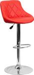Flash Furniture Red Vinyl Bucket Seat Pub Stool