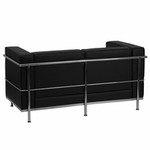 Flash Furniture Regal Series Contemporary Leather Love Seat