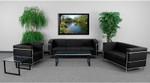 Flash Furniture Regal Series Modern Leather Reception Seating Set