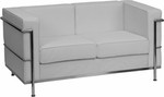 Flash Furniture Regal Series White Leather Love Seat