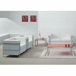Flash Furniture Regal Series White Leather Love Seat
