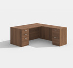 amber l-shaped desk am-313n with walnut finish