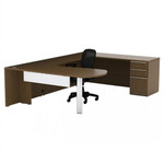 Cherryman Verde Arc End U Desk with Pedestal VL-722