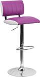 Flash Furniture Two Tone Purple and White Vinyl Bar Stool