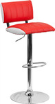 Flash Furniture Two Tone Red and White Vinyl Adjustable Stool