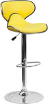 Flash Furniture Yellow Bar Stool with Chrome Base