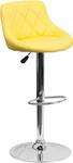 Flash Furniture Yellow Vinyl Bucket Seat Bistro Stool