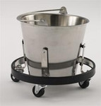 Intensa Stainless Steel Kick Bucket With Frame