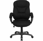 Flash Furniture Contemporary Black Microfiber Office Chair