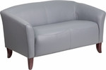 Flash Furniture Imperial Series Gray Leather Loveseat