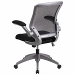Flash Furniture Mid Back Mesh Chair with Flip Up Arms