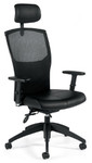Global Alero Series Leather High Back Multi-Tilter Office Chair 1960LM-3