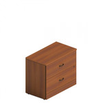 Global Total Office A2036LF Adaptabilities 2 Drawer Lateral File Cabinet with Avant Honey Finish