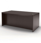 "Mayline Aberdeen 72"" Bow Front Executive Desk ABD7242 (4 Finish Options!)"