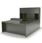 gray steel aberdeen desk