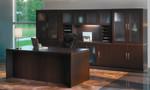 at35 aberdeen desk configuration in mocha