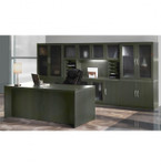 at35 aberdeen desk configuration in gray