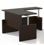 Mayline Aberdeen Height Adjustable L-Desk AT61 (4 Finish Options!)