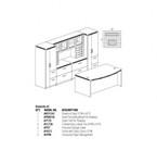 at9 aberdeen desk set dimensions