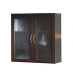 aberdeen display cabinet in mocha