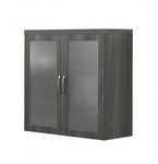 aberdeen display cabinet in gray