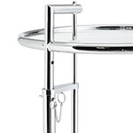 Modway Eileen Gray Series Glass Top Side Table with Silver Finish