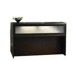 aberdeen small reception desk in mocha