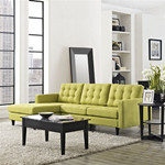 Modway Empress Left Facing Tufted Fabric Sectional Sofa (10 Color Options!)