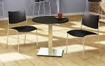 "Mayline CA42RLS 42"" Round Stainless Steel Bistro Table"