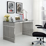 Modway Gridiron Stainless Steel Office Desk EEI-1450-SLV