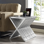 Modway Press Collection Contemporary Stainless Accent Table EEI-2096