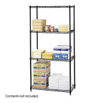 "Safco 18"" x 36"" Wire Shelving Starter Unit 5276BL"