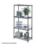 "Safco 18"" x 36"" Wire Shelving Unit 5285BL"