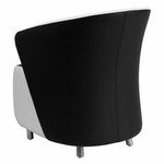 Flash Furniture ZB-7-GG Black Leather Reception Chair with White Detailing
