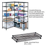 "Safco 24"" x 48"" Wire Shelving Unit 5294"