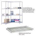 """Safco 24"""" x 48"""" Wire Shelving Unit 5294GR"""
