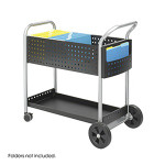 """Safco 32"""" Scoot Mail Cart 5239BL"""