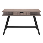 Modway Turnabout EEI-1324 Birch Finished Desk with Black Steel Legs