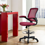 Modway Veer Mesh Back Drafting Stool EEI-1423 (4 Cool Colors!)