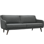 Modway Verve Contemporary Sofa with Raised Wood Legs