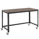 Modway Vinify Industrial Office Desk with Wheels