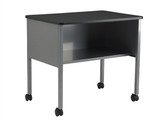 Mayline Eastwinds Series Anthracite Mobile Storage Table and Utility Cart 2140CA