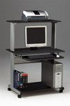 Mayline Eastwinds Small Home Computer Desk with Metal Frame and Anthracite Surface Finish