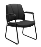 Offices To Go 11892 Black Guest Chair with Arms
