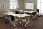 Global 13' Modular Bungee Table Set for Conference and Training Areas