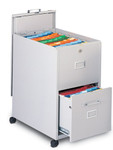 Mayline File With Lid and Drawer Mobilizer Cart